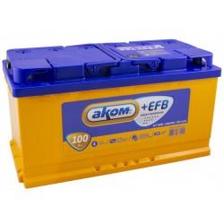 Аккумулятор AKOM +EFB 6CT-100 Евро (100 A/h), 930А R+